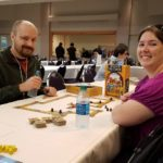 Andrew and Jessica playing Carcassonne: The Castle at Arizona Game Fair. (1/22/2017)