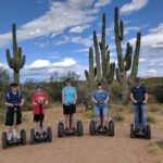 The Coles and the Greens on a Segway tour through the desert. (3/28/2017)