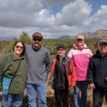 The Greens and the Coles take a break during a Pink Jeep tour in Sedona, AZ. (3/31/2017)