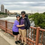 Jessica and Andrew taking a quick breather and photo after a Segway tour of Minneapolis, MN. (5/27/2017)