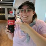 Jessica pointing to a bottle of Coca Cola with her name on it. (7/8/2017)